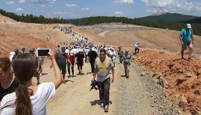 Kaz Dağları'nda binlerce kişi şantiyeye girdi