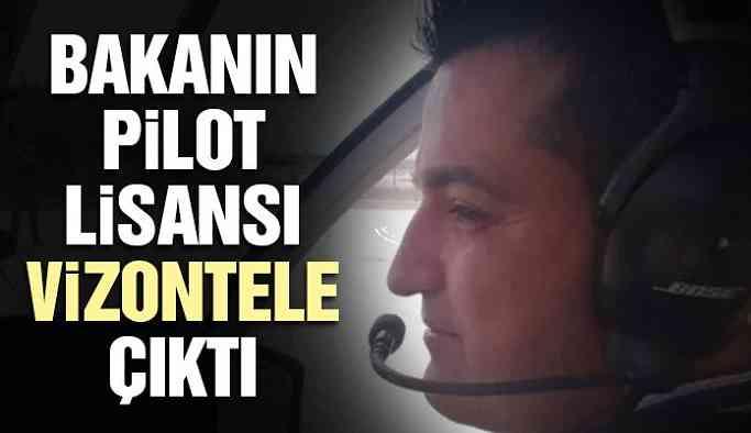 Pakdemirli'nin pilot lisansı vizontele çıktı!