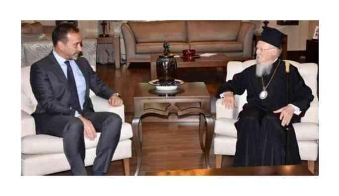Patrikten MHP'li başkana ziyaret