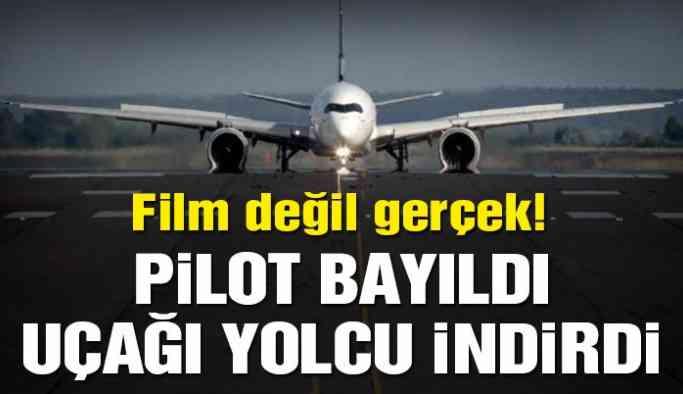 Pilot bayıldı, uçağı pilot olan bir yolcu indirdi