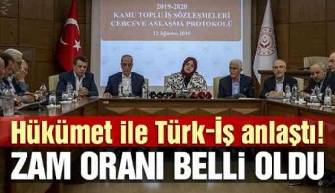 Son dakika... Hükümet ile Türk-İş anlaştı! Zam oranı belli oldu!