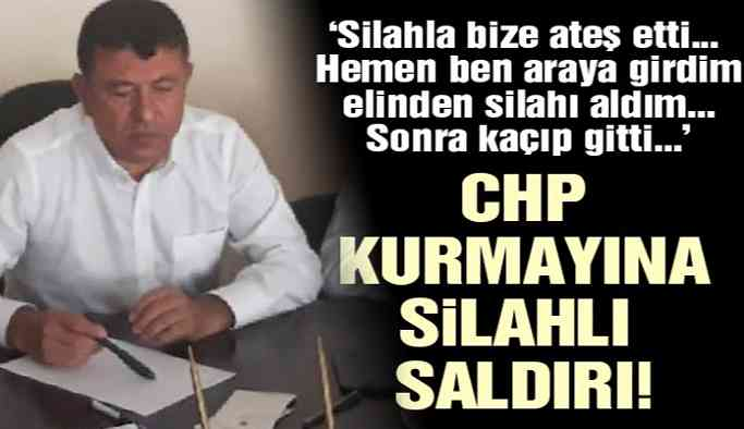 Son dakika...CHP Genel Başkan Yardımcısı Veli Ağbaba'ya silahlı saldırı