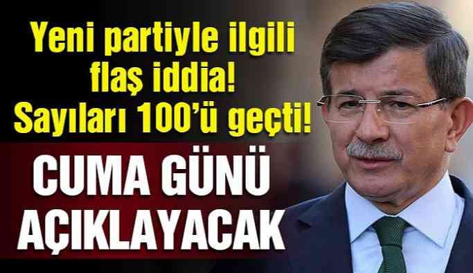 Ahmet Davutoğlu'ndan yeni bir hamle!