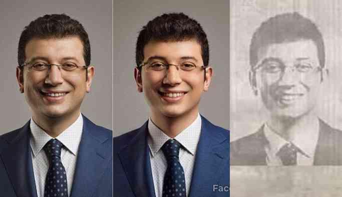 Ekrem İmamoğlu'nu faceapp'ta gençleştirip, sahte belge ürettiler!