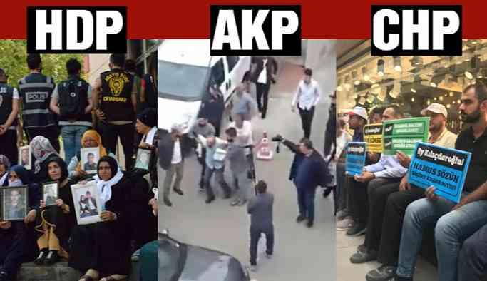 Son dakika… HDP, AKP ve CHP önünde eylemler