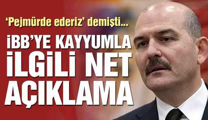 Son dakika… Soylu'dan İBB ve Ankara'ya kayyumla ilgili net açıklama