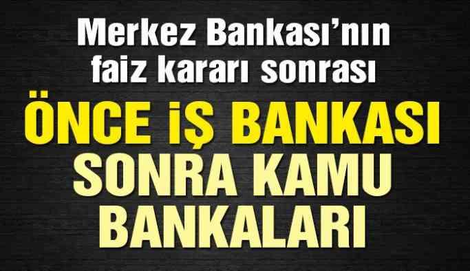 Son dakika haberi… İş Bankası, Ziraat Bankası ve VakıfBank kredi faiz oranlarını indirdi