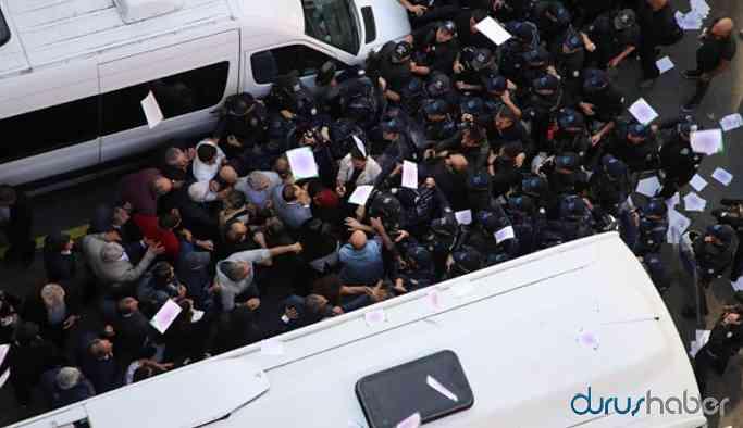 Ankara'da HDP açıklamasına polis müdahale etti