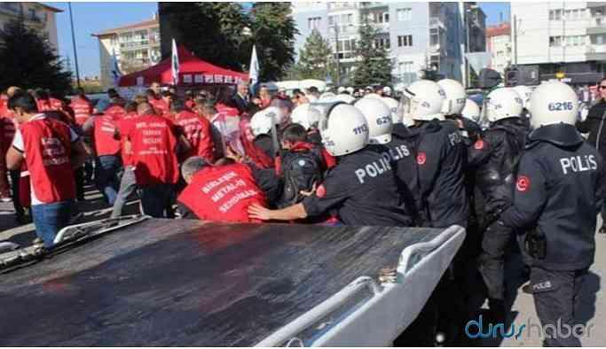 Ankara'ya yürümek isteyen işçilere müdahale: 29 gözaltı