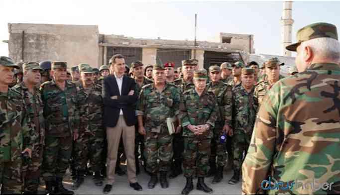 Esad İdlib'te Suriye Ordusu'yla bir araya geldi