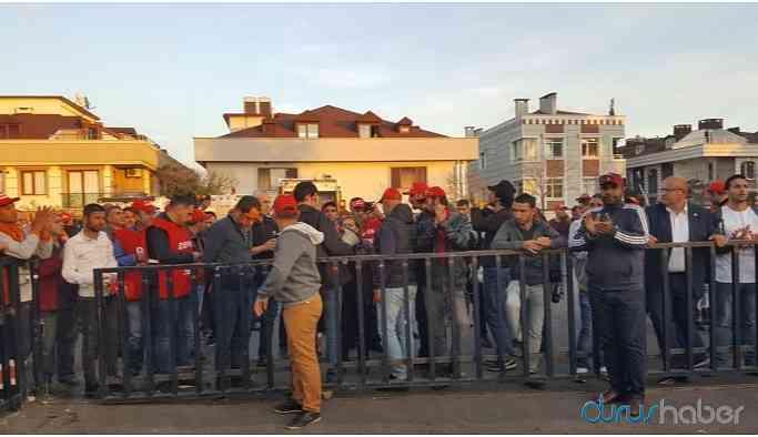 Maltepe Belediyesi'nde işten çıkarılan işçilerden işgal eylemi