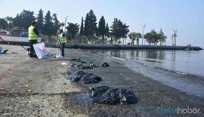 Petrol sızıntısı sahil kirliliğine neden oldu