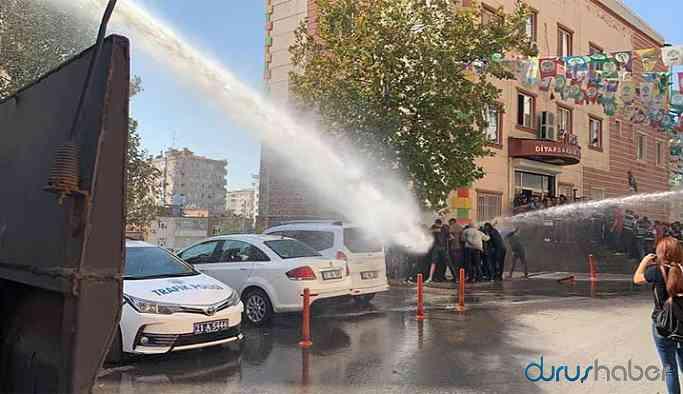 Polisten HDP'lilere sert müdahale