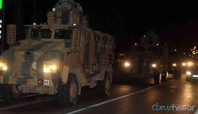 Sınır hattına askeri sevkiyat sürüyor
