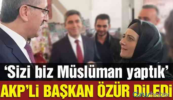 AKP'li Başkanı'ndan Trabzonlular için: Sizi biz Müslüman yaptık