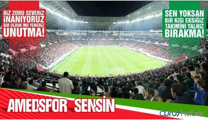 Amedspor'un maç bileti 1 TL