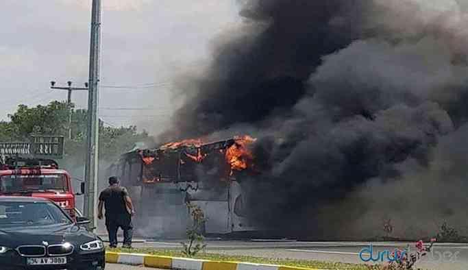 Bakanlıktan otobüs yangınlarına 'hafif kusurlu' raporu