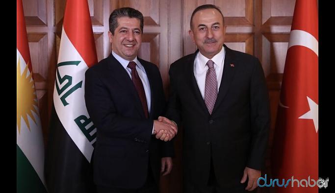 Barzani ile görüşen Çavuşoğlu: Harekatla ilgili bilgileri aktardık