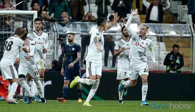 Beşiktaş, gruptaki ilk galibiyetini aldı!