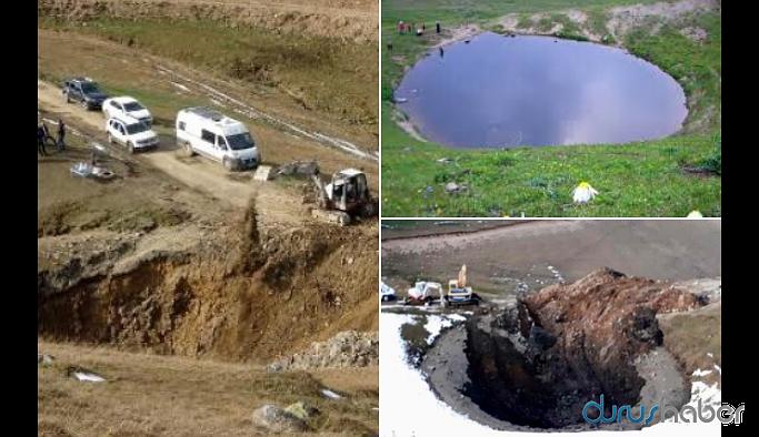 Define kazısı 12 bin yıllık gölü yok etti