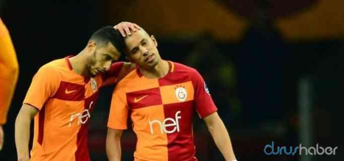 Galatasaray'da Belhanda ve Feghouli ile özel görüşme