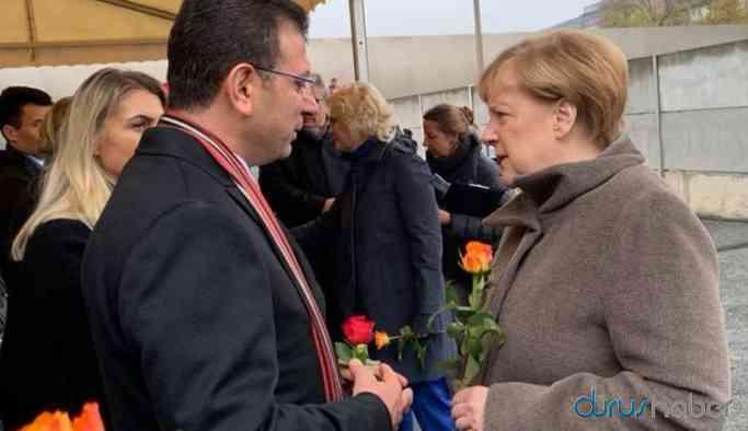 İmamoğlu, Angela Merkel ile bir araya geldi