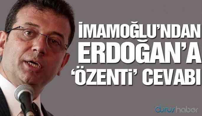 İmamoğlu'ndan Erdoğan'a 'özenti' cevabı