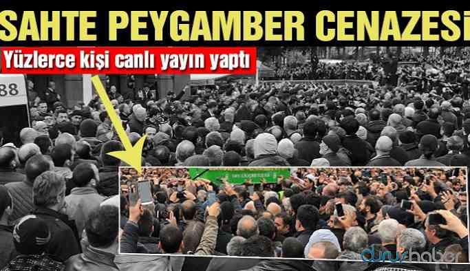 'Sahte peygamber' cenazesinde 'canlı yayın' izdihamı