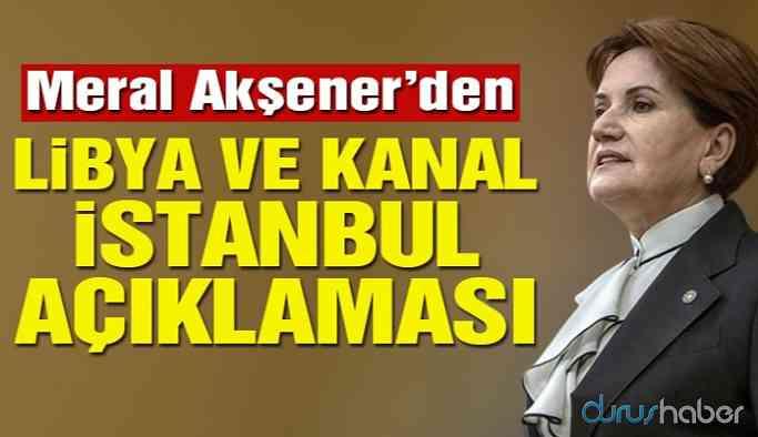 Akşener'den Kanal İstanbul ve asgari ücret açıklaması!