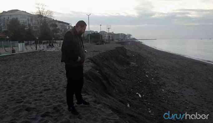 Deniz üç metre çekildi