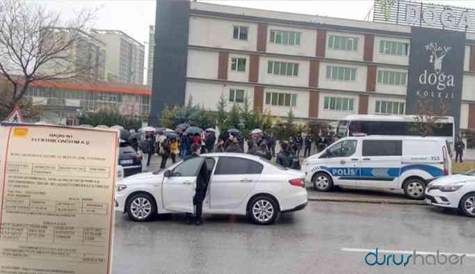 Doğa Koleji önünde ailelere polis ablukası