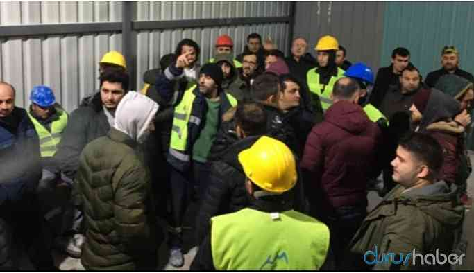 Maden işletmesinde çalışan 130 işçi iş bıraktı