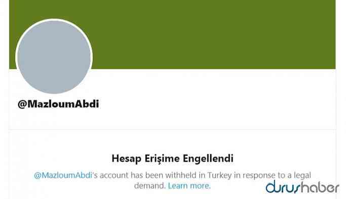Mazlum Abdi'nin hesabı Türkiye'de erişime engellendi