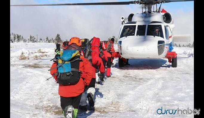 Uludağ'da kaybolan dağcıların izine rastlandı