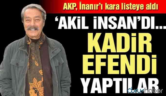 AKP Kadir İnanır'ı kara listeye aldı! Demirtaş'ın kitabından uyarlanan tiyatro oyununu izlemişti!