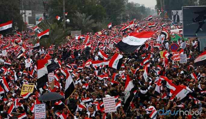 Bağdat'ta ABD protestosu: Askeri birliklerinizi çekin