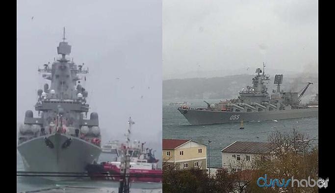 Boğaz'da korku dolu anlar! Rus savaş gemisi sürüklendi...