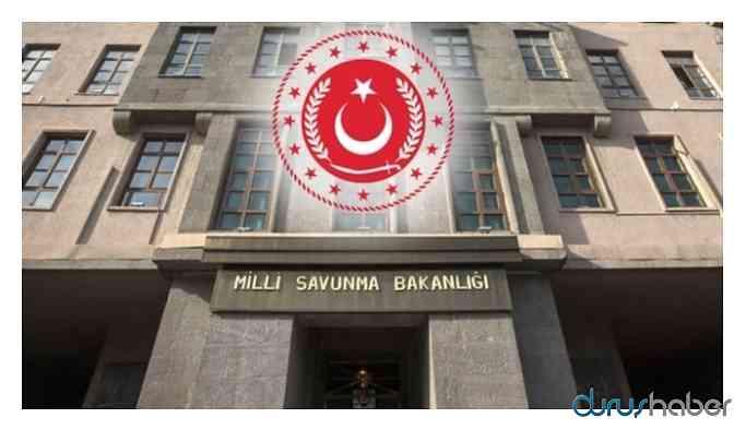 Milli Savunma Bakanlığı'den Süriye Açıklaması
