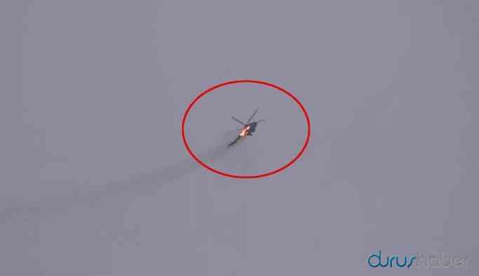Video | İdlib'de helikopter düşürüldü! İşte o anlar...