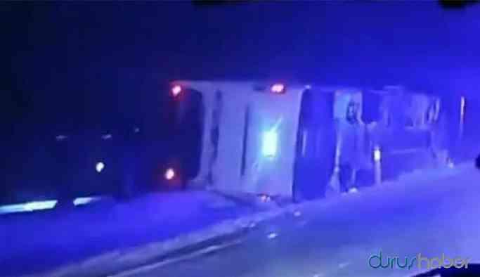 Yolcu otobüsü devrildi: Yaralılar var