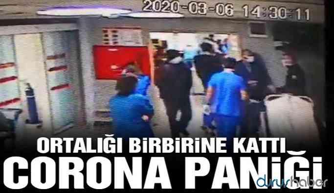 Coronavirüs paniği! Hastaneyi birbirine kattı!