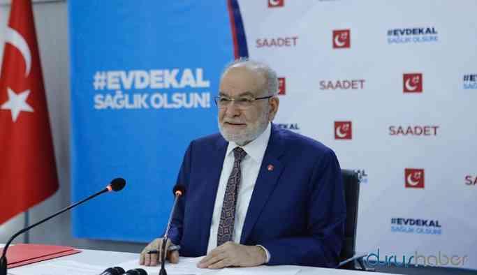 Karamollaoğlu'ndan hükümete tepki: 'Evde Kal Ama Aç Kal'