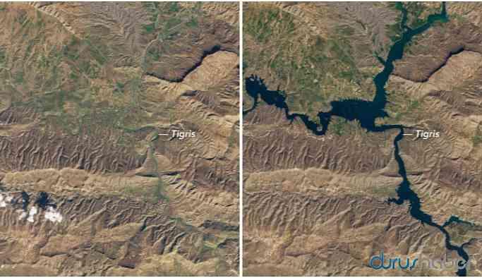 NASA sular altında kalan Hasankeyf'in fotoğrafını paylaştı