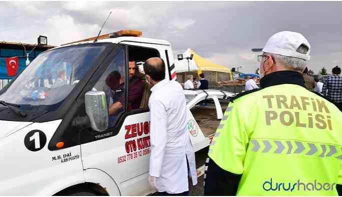 Şehrin giriş-çıkışında corona önlemi: Yurttaşların ateşi ölçülüyor