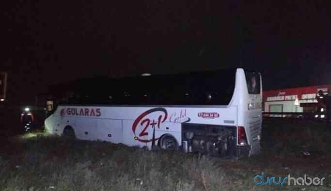 Yolcu otobüsü TIR'a çarptı: 40 yaralı