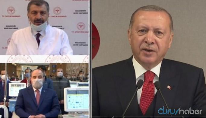 Erdoğan, şehir hastanesi açılışında İBB'yi hedef gösterdi