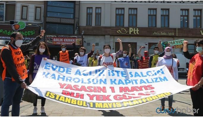 İstanbul'da 1 Mayıs: Virüs değil kapitalizm öldürür