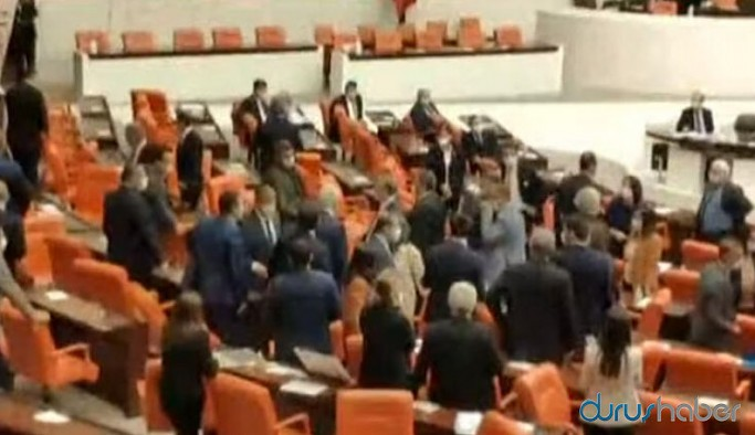 Meclis'te kavga: MHP ve HDP'li vekiller birbirine girdi