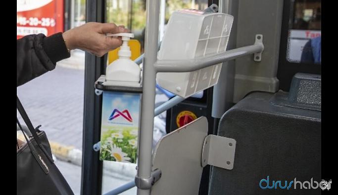 Mersin'de otobüslerde ücretsiz maske dağıtımına başlandı