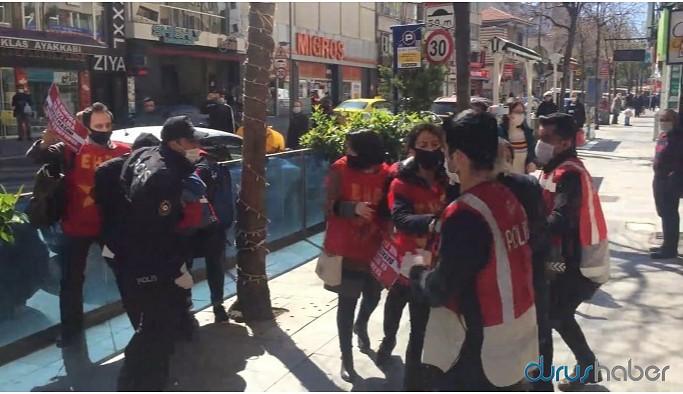 Ücretsiz izin düzenlemesini protesto eden 11 EHP üyesine gözaltı